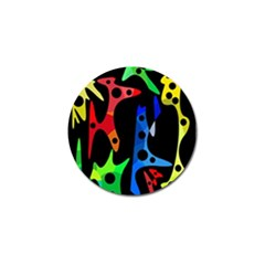 Colorful Abstract Pattern Golf Ball Marker by Valentinaart