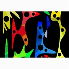 Colorful abstract pattern Collage Prints by Valentinaart