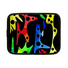 Colorful Abstract Pattern Netbook Case (small)  by Valentinaart