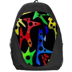 Colorful Abstract Pattern Backpack Bag by Valentinaart