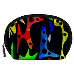 Colorful Abstract Pattern Accessory Pouches (large)  by Valentinaart