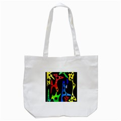 Colorful Abstract Pattern Tote Bag (white) by Valentinaart
