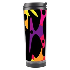 Colorful Pattern Travel Tumbler by Valentinaart