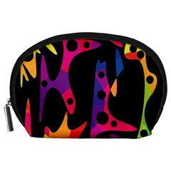 Colorful Pattern Accessory Pouches (large)  by Valentinaart
