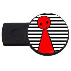 Red pawn USB Flash Drive Round (1 GB)