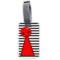 Red Pawn Luggage Tags (one Side)  by Valentinaart