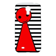Red Pawn Samsung Galaxy S4 I9500/i9505 Hardshell Case by Valentinaart