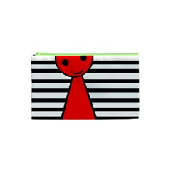Red Pawn Cosmetic Bag (xs) by Valentinaart