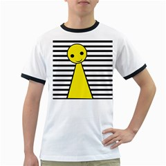 Yellow Pawn Ringer T Shirts by Valentinaart