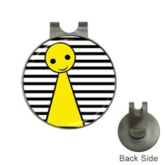 Yellow Pawn Hat Clips With Golf Markers by Valentinaart