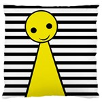Yellow pawn Large Flano Cushion Case (Two Sides) Front
