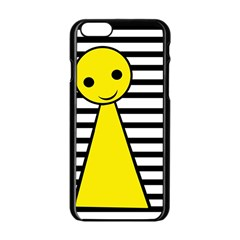 Yellow Pawn Apple Iphone 6/6s Black Enamel Case by Valentinaart