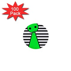 Green Pawn 1  Mini Buttons (100 Pack)  by Valentinaart