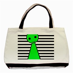 Green Pawn Basic Tote Bag by Valentinaart