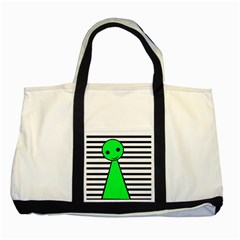 Green Pawn Two Tone Tote Bag by Valentinaart
