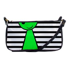 Green Pawn Shoulder Clutch Bags