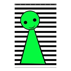 Green Pawn Shower Curtain 48  X 72  (small)  by Valentinaart