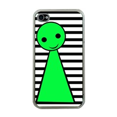 Green Pawn Apple Iphone 4 Case (clear) by Valentinaart