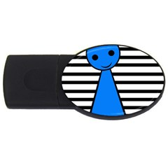Blue Pawn Usb Flash Drive Oval (2 Gb)  by Valentinaart