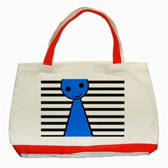 Blue Pawn Classic Tote Bag (red) by Valentinaart
