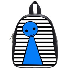 Blue Pawn School Bags (small)  by Valentinaart