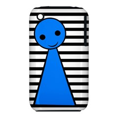 Blue Pawn Apple Iphone 3g/3gs Hardshell Case (pc+silicone) by Valentinaart