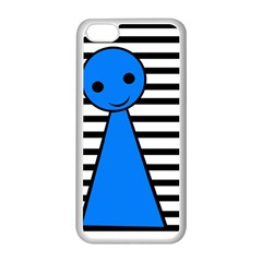 Blue Pawn Apple Iphone 5c Seamless Case (white) by Valentinaart