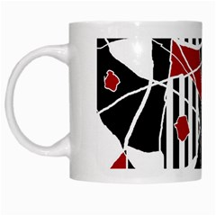 Artistic Abstraction White Mugs by Valentinaart