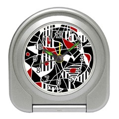 Artistic Abstraction Travel Alarm Clocks by Valentinaart