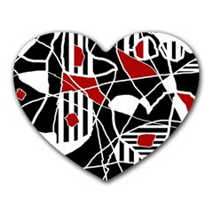 Artistic Abstraction Heart Mousepads by Valentinaart