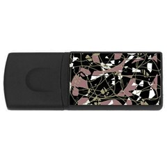 Artistic Abstract Pattern Usb Flash Drive Rectangular (4 Gb)  by Valentinaart