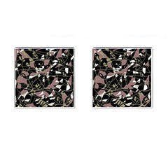 Artistic Abstract Pattern Cufflinks (square) by Valentinaart