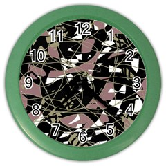 Artistic Abstract Pattern Color Wall Clocks by Valentinaart