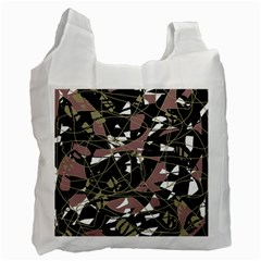Artistic Abstract Pattern Recycle Bag (one Side) by Valentinaart