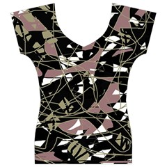 Artistic abstract pattern Women s V-Neck Cap Sleeve Top by Valentinaart