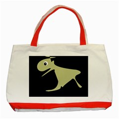 Kangaroo Classic Tote Bag (red) by Valentinaart
