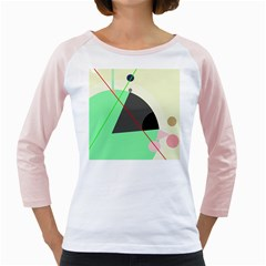 Decorative abstract design Girly Raglans by Valentinaart