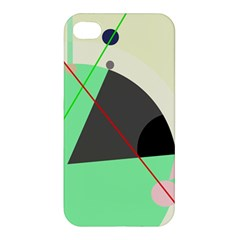 Decorative Abstract Design Apple Iphone 4/4s Premium Hardshell Case by Valentinaart