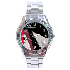 Artistic Abstraction Stainless Steel Analogue Watch by Valentinaart
