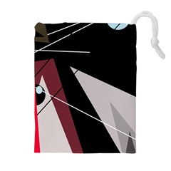 Artistic Abstraction Drawstring Pouches (extra Large) by Valentinaart