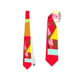 Red Abstraction Neckties (one Side)  by Valentinaart