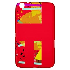 Red Abstraction Samsung Galaxy Tab 3 (8 ) T3100 Hardshell Case  by Valentinaart