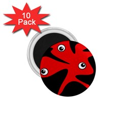 Red Amoeba 1 75  Magnets (10 Pack)  by Valentinaart