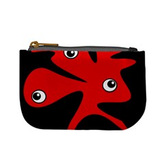 Red Amoeba Mini Coin Purses by Valentinaart
