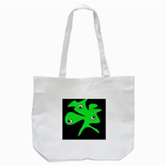Green Amoeba Tote Bag (white)