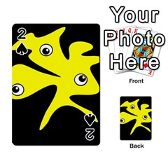 Yellow Amoeba Playing Cards 54 Designs