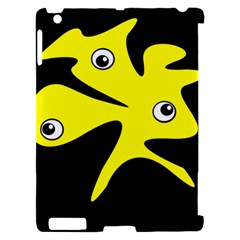 Yellow amoeba Apple iPad 2 Hardshell Case (Compatible with Smart Cover) by Valentinaart