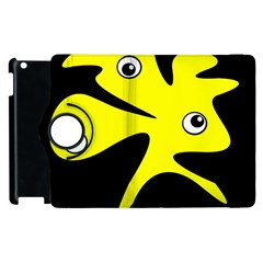 Yellow Amoeba Apple Ipad 3/4 Flip 360 Case by Valentinaart