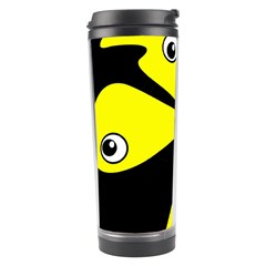 Yellow Amoeba Travel Tumbler by Valentinaart
