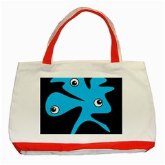 Blue Amoeba Classic Tote Bag (red) by Valentinaart
